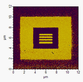 Poled domains in thin film SBN added to a silicon photonic chip.